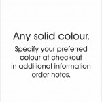 18. Solid colour of your choice